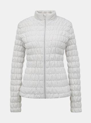 Bílá dámská prošívaná voděodolná bunda SAM 73