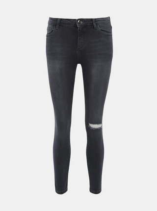 Šedé skinny fit rifle Dorothy Perkins Darcy