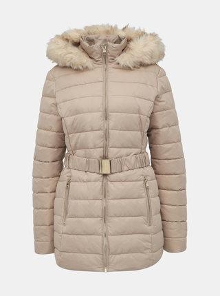 Béžová zimní prošívaná bunda Dorothy Perkins Tall