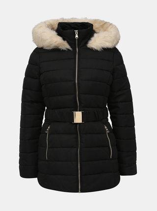 Čierna prešívaná zimná bunda Dorothy Perkins