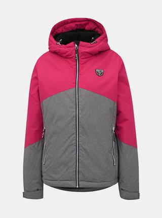 Ružovo-šedá dámska nepromokavá zimná bunda SAM 73