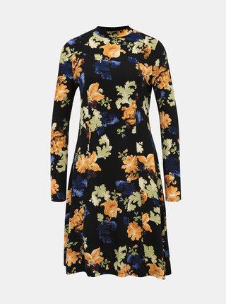 Čierne kvetované šaty Dorothy Perkins Swing