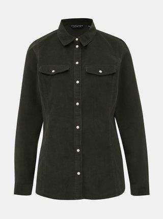 Khaki manšestrová košile Dorothy Perkins