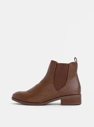 Hnědé chelsea boty Dorothy Perkins