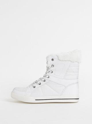 Bílé dámské kotníkové zimní boty SAM 73