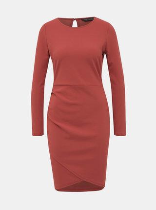 Tehlové púzdrové šaty Dorothy Perkins