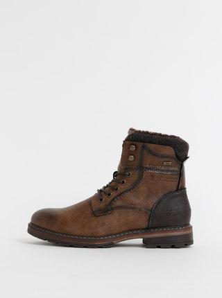 Hnědé pánské kotníkové voděodpudivé boty Tom Tailor