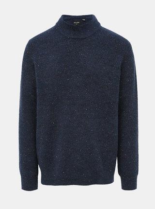 Modrý sveter s prímesou vlny ONLY & SONS Patrick