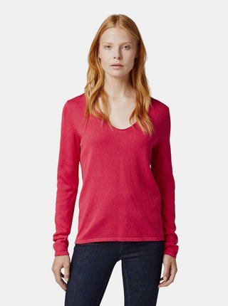 Tmavě růžový dámský basic svetr Tom Tailor
