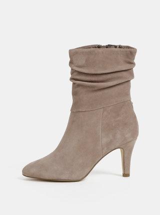 Šedé semišové kotníkové boty Tamaris