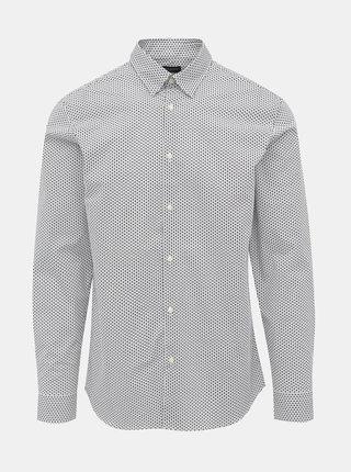 Biela vzorovaná slim fit košeľa Selected Homme Michigan