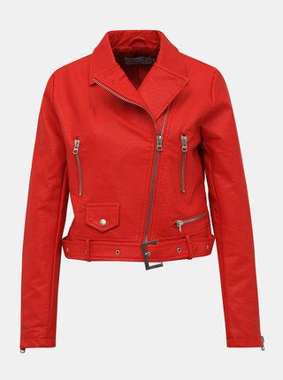Červena koženková bunda Haily´s Adele