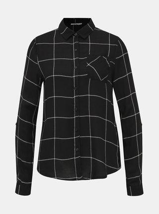 Čierna dámska kockovaná košeľa Haily´s Meral