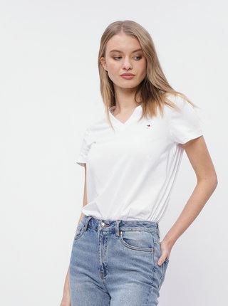 Bílé dámské basic tričko Tommy Hilfiger Heritage