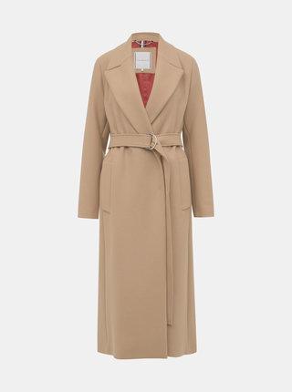 Svetlohnedý dámsky vlnený kabát Tommy Hilfiger Belle