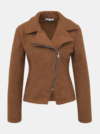 Hnedá dámska bunda z umelého kožúšku Haily´s Anna