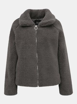 Šedá dámská bunda z umělého kožíšku Haily´s Lana