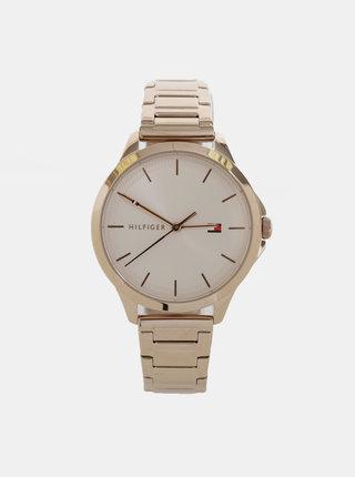 Dámské hodinky s nerezovým páskem v růžovozlaté barvě Tommy Hilfiger