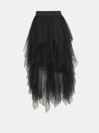Čierna tylová maxi sukňa Haily´s Tessa