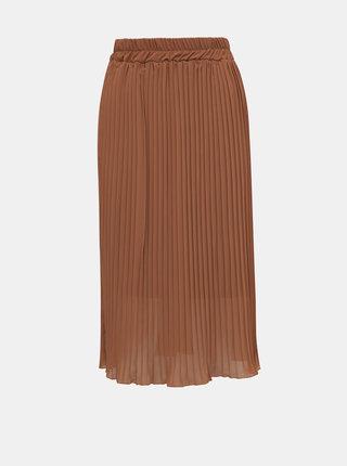 Hnědá plisovaná sukně Haily´s Anaya