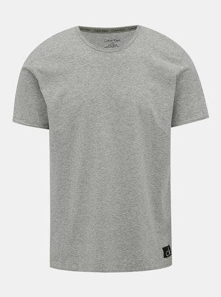 Šedé pánské tričko Calvin Klein Underwear