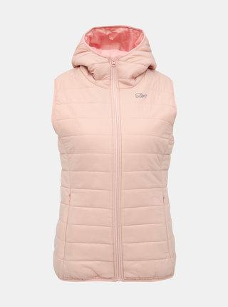 Svetloružová dámska prešívaná vesta SAM 73