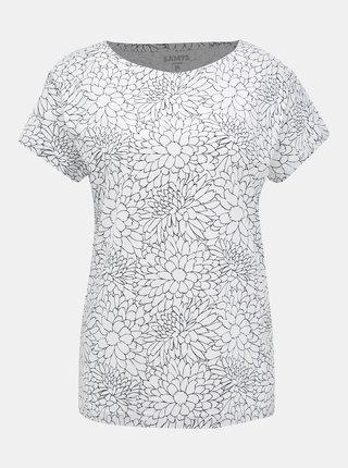 Bílé dámské květované tričko SAM 73