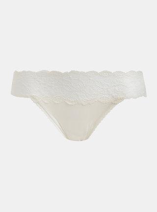 Krémové krajkové kalhotky Calvin Klein Underwear