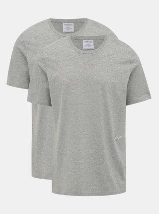 Sada dvou šedých pánských triček Calvin Klein Underwear
