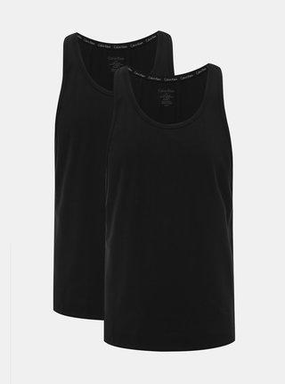 Sada dvoch čiernych pánskych basic tielok Calvin Klein Underwear