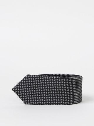 Čierna vzorovaná kravata Selected Homme Nicholas