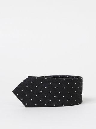 Čierna bodkovaná kravata Selected Homme Nicholas