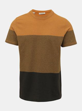 Kaki-žlté tričko Selected Homme Kevin