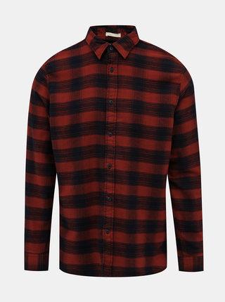Modro-červená kockovaná slim fit košeľa Selected Homme Seamus