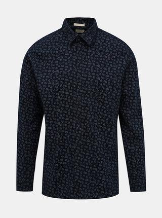 Tmavomodrá kvetovaná košeľa Selected Homme Seamus