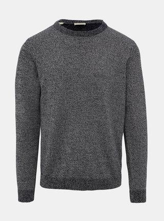 Tmavomodrý vzorovaný sveter Selected Homme Haiden