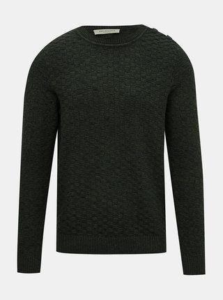 Tmavozelený sveter Selected Homme Square