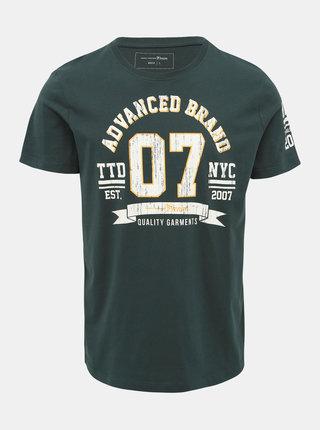 Tmavě zelené pánské tričko Tom Tailor Denim