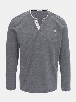 Tmavě modré pánské pruhované tričko Tom Tailor