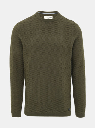 Kaki pánsky sveter Tom Tailor Denim