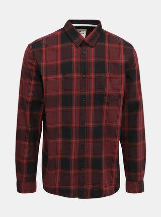 Vínová pánská kostkovaná regular fit košile Tom Tailor