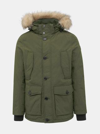 Tmavozelená pánska zimná bunda Tom Tailor