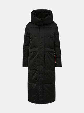 Čierny dámsky prešívaný vodeodpudivý zimný kabát Tom Tailor