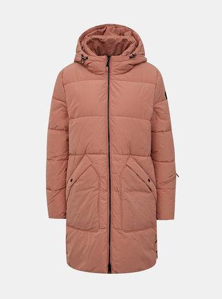 Růžový dámský prošívaný zimní voděodpudivý kabát Tom Tailor