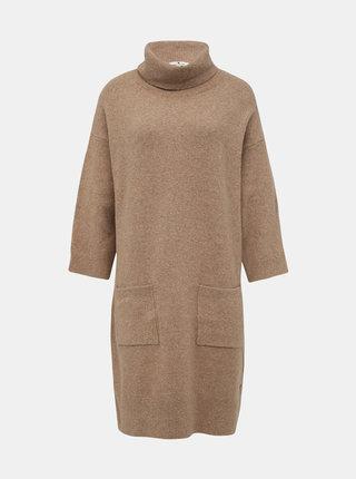 Béžové svetrové šaty Tom Tailor