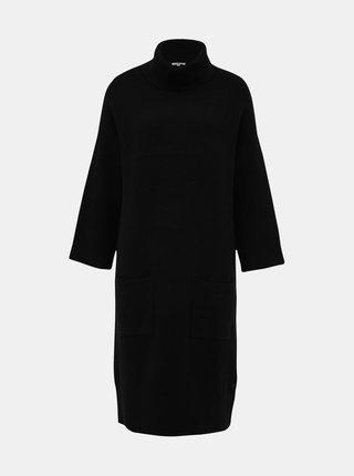 Čierne svetrové šaty Tom Tailor