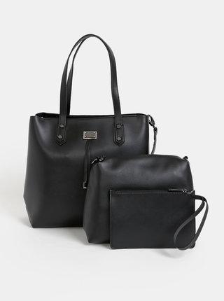 Černá kabelka s dvěma odnímatelnými pouzdry 3v1 Bessie London