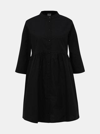 Čierne košeľové šaty Jacqueline de Yong Ulle