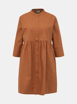 Hnedé košeľové šaty Jacqueline de Yong Ulle
