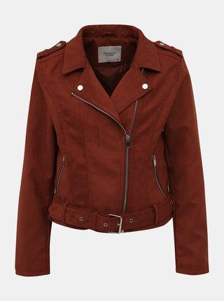 Hnedý bunda v semišovej úprave Jacqueline de Yong Trina